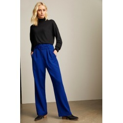 Emerge High Waist Belted Pant - Cobalt - 20 found on Bargain Bro from Noni B Limited for USD $40.51