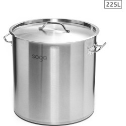 Soga Ss Top Grade Thick Stock Pot 60x80cm 225l 18/10 - Stainless Steel - ONE found on Bargain Bro from Noni B Limited for USD $334.57