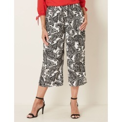 Millers Crop Wide Leg Rayon Culotte - Neutral Paisley - 10 found on Bargain Bro India from Rockmans for $10.65