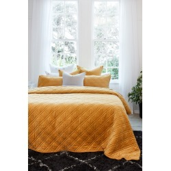 Windsor Quilted Velvet Bedcover - Maize - S found on Bargain Bro from Noni B Limited for USD $98.04