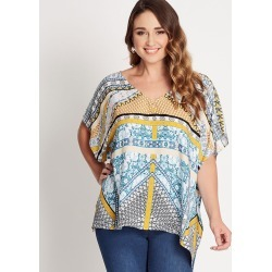 Katies V-neck Kaftan Top - Boho Print - 8 found on Bargain Bro Philippines from BE ME for $7.86