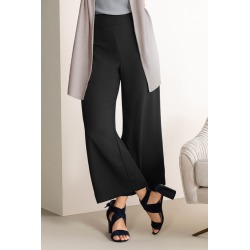 Grace Hill Satin Back Crepe Wide Leg Pants - Black - 8 found on Bargain Bro from Rivers for USD $14.69
