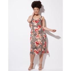 Crossroads Cowl Neck Mesh Midi Dress - Floral Anima - 10 found on Bargain Bro from W Lane for USD $10.23