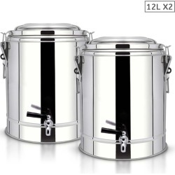 Soga 12l Ss Insulated Stock Pot With Tap 2pack - Stainless Steel found on Bargain Bro India from crossroads for $178.94