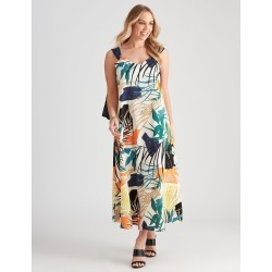 Crossroads Strappy Print Maxi Dress - Palm Print - 8 found on Bargain Bro Philippines from BE ME for $29.51