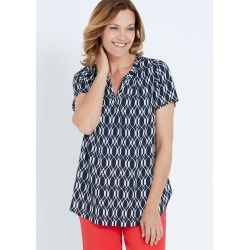 Millers Georgette Blouse - Navy Geo - 12 found on Bargain Bro from Noni B Limited for USD $5.87