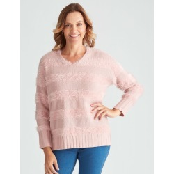 Feather Jumper - Dusty Pink Stripe - XL found on Bargain Bro Philippines from crossroads for $15.72