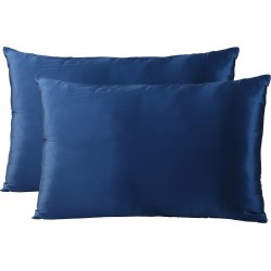 Royal Comfort Mulberry Silk Pillowcase Twin Pack - Navy - ONE found on Bargain Bro India from W Lane for $42.73