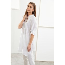 Grace Hill Linen Pintuck Tunic - White - 12 found on Bargain Bro from Rivers for USD $35.26