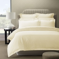 Royal Comfort 1200 Thread Count Damask Stripe Quilt Cover Set - Pebble - Queen found on Bargain Bro India from W Lane for $67.66