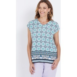 Millers Extended Sleeve Mosaic Print Top - Blue Mosaic Border P found on Bargain Bro Philippines from crossroads for $7.17