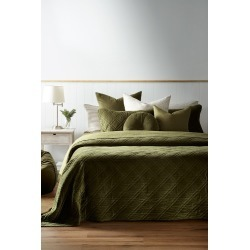 Windsor Quilted Velvet Bedcover - Moss - L found on Bargain Bro from Noni B Limited for USD $98.04