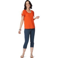 Rockmans Short Tie Sleeve Top - Orange - XS found on Bargain Bro India from BE ME for $15.43