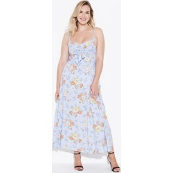 Crossroads Knot Maxi Dress - Blue Floral - 8 found on Bargain Bro India from BE ME for $24.63