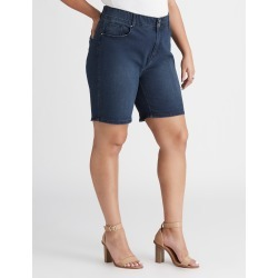 Beme Mid Thigh Double Button Short - Dark Wash - 16 found on Bargain Bro India from W Lane for $21.09