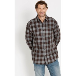 Rivers Long Sleeve Heathered Check Shirt - Grey/brown - Grey/brown - L found on Bargain Bro India from W Lane for $20.59