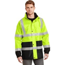 Cornerstone - Ansi 107 Class 3 Waterproof Parka - Safety Yellow/ Black - S found on Bargain Bro from Rivers for USD $74.43