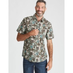 Rivers Printed Linen Cotton Shirt - Natural found on Bargain Bro from crossroads for USD $13.53