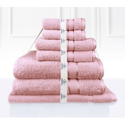 Kingtex 7 Piece Bath Towel Set - Rose Pink - One found on Bargain Bro from Noni B Limited for USD $22.19