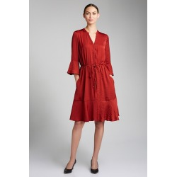 Grace Hill Tie Waist Dress - Rust - 16 found on Bargain Bro India from Rockmans for $45.74
