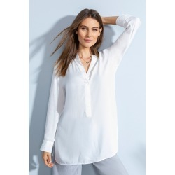Grace Hill Longline 1/2 Placket Shirt - White - 12 found on Bargain Bro from Rivers for USD $29.38
