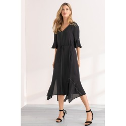Grace Hill Tie Waist Dress - Black - 10 found on Bargain Bro India from Rockmans for $22.87