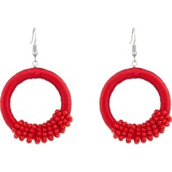 Amber Rose Boho Hoops - Red - One Size found on Bargain Bro from Noni B Limited for USD $5.87