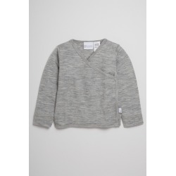 Pumpkin Patch Merino Long Sleeve Wrap Top - Grey Marl - 3-6 mths found on Bargain Bro India from Rockmans for $13.36