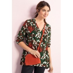 Capture Placket Detail 3/4 Sleeve Top - Green Floral - 10 found on Bargain Bro Philippines from Rivers for $25.82