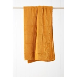 Windsor Quilted Velvet Throw - Saffron - One Size found on Bargain Bro from Noni B Limited for USD $48.72