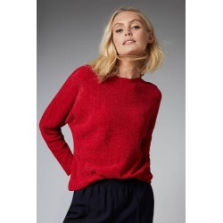 Emerge Chenille Batwing Sweater - Red - XS found on Bargain Bro from crossroads for USD $18.17