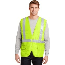 Cornerstone - Ansi 107 Class 2 Mesh Back Safety Vest - Safety Yellow - S found on Bargain Bro from Rivers for USD $19.33