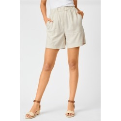 Capture Linen Blend Classic Short - Sand - 8 found on Bargain Bro India from Rockmans for $20.83