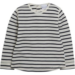 Pumpkin Patch Merino Long Sleeve Top With Curved Hem - Navy/winter White - Navy/winter White - 6-12 mths found on Bargain Bro India from Rockmans for $13.36