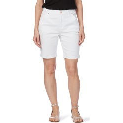 Rockmans Motif Embroidered Denim Short - White found on Bargain Bro India from crossroads for $13.68
