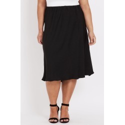 Beme Below Knee Plain Bias Skirt - Black - 18 found on Bargain Bro India from BE ME for $51.11