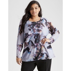 Beme Long Sleeve Abstract Mesh Print Top - Multi Print - L found on Bargain Bro India from W Lane for $27.22