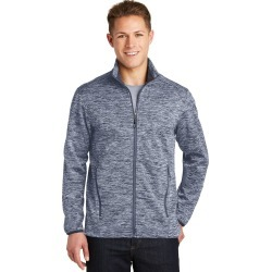 Sport-tek Posicharge Electric Heather Soft Shell Jacket - True Navy Electric - S found on Bargain Bro India from Rockmans for $55.36