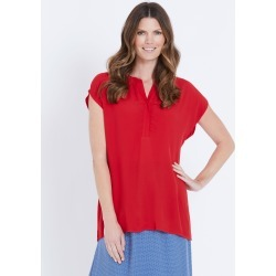 W.lane Placket Detail Blouse - Red - 8 found on Bargain Bro Philippines from W Lane for $15.72