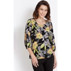Rockmans 3/4 Sleeve Eyelet Neck Top - Multi - XS found on Bargain Bro Philippines from Rockmans for $5.48
