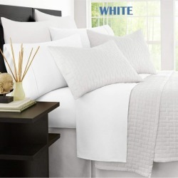 Ramesses Original 2000tc Cooling Bamboo Sheet Set - White - Single found on Bargain Bro from Noni B Limited for USD $31.19