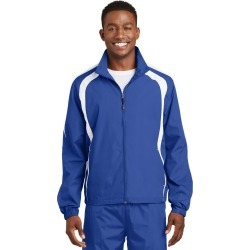 Sport-tek Colorblock Raglan Jacket - True Royal/ White - True Royal/ White - S found on Bargain Bro India from Rockmans for $36.20