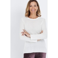 Millers Long Sleeve Embellished Textured Jumper - Winter White - XXXL found on Bargain Bro India from Rockmans for $7.39