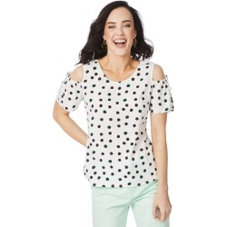 Rockmans Short Sleeve Colour Pop Spot Tee - Multi - 22 found on Bargain Bro India from BE ME for $6.17
