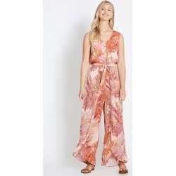 Rockmans Sleeveless Button Front Wrap Jumpsuit - Pink Palm - 16 found on Bargain Bro India from W Lane for $15.55