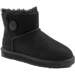 Ozwear Ugg Womens Classic Mini Button Boots - Black - EU40 / AU10L found on Bargain Bro from Rockmans for USD $58.41