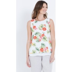 W.lane Abstract Floral Blouse - Red Multi Onl - 8 found on Bargain Bro from Noni B Limited for USD $11.95