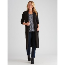 Rivers Longline Edge To Edge Cardigan - Black - XXL found on Bargain Bro from BE ME for USD $8.42