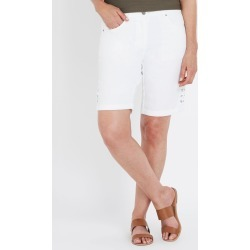 Millers Mid Thigh Turn Up Lattice Side Short - White - 18 found on Bargain Bro India from W Lane for $11.66