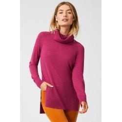 Capture Merino Cowl Neck Sweater - Fuchsia - S found on Bargain Bro from crossroads for USD $35.17